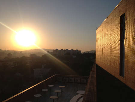 Sunset, urban scene photo