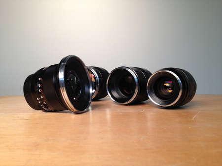 SLR Lenses Stock Photo