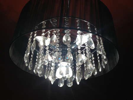 lampshade: unusual modern style lampshade Stock Photo