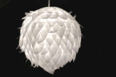 lampekap: unusual modern style lampshade Stockfoto
