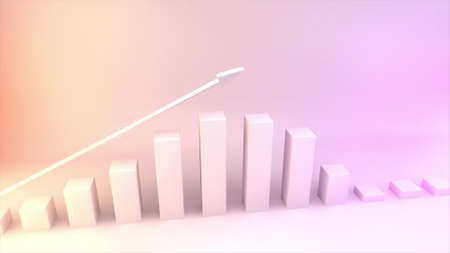 3D Chart Made in Computer Graphics with great colors