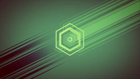 Colourful Geometric Shapes Background made In Computer Graphics With Shadow Stock Photo