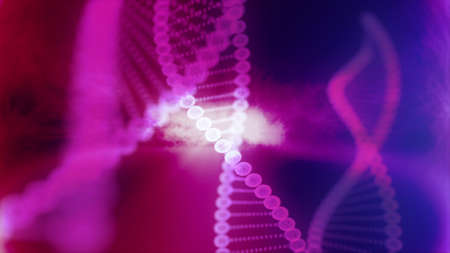 built structure: Molecule of DNA Made In Computer Graphics With Great Colors