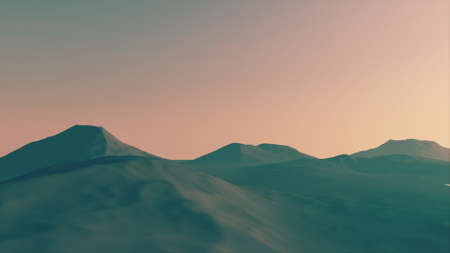 snowcapped landscape: Great View of a Mountain Created in 3D Software