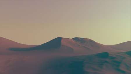 Great View of a Mountain Created in 3D Software