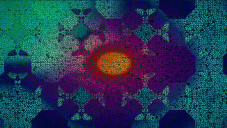 creator: Colourful Abstract Background Made in Computer Graphics With Particle Creator Stock Photo