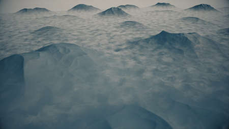 mountaintop: Great View of a Mountain Created in 3D Software