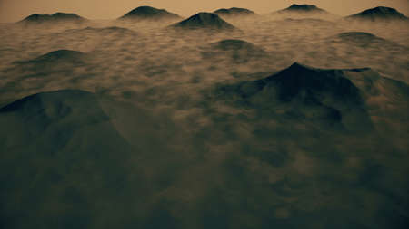 snowcapped: Great View of a Mountain Created in 3D Software