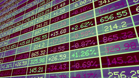 Display of Stock market made in Computer Graphics With great colors