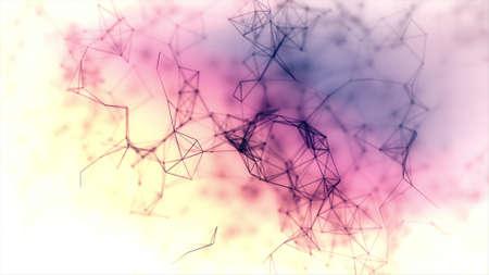 creador: Fondo colorido abstracto hecho en gráficos por ordenador Con el creador de partículas Foto de archivo