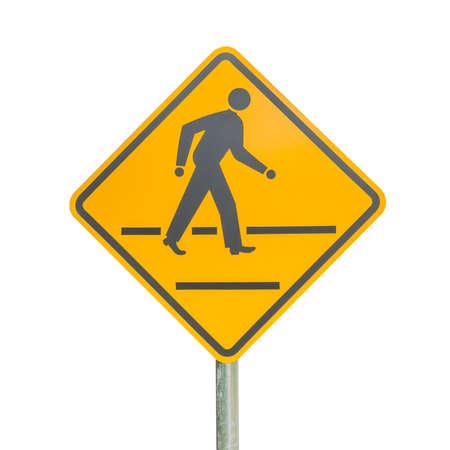 pedestrian: Pedestrian sign isolated Stock Photo