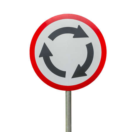 roundabout: Roundabout sign isolate