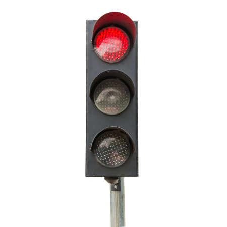 se�ales trafico: Las se�ales de tr�fico rojo aislado Foto de archivo