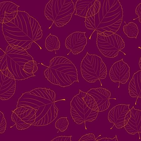 claret red: Modelo incons�til de las hojas de oto�o en el fondo bordeaux Vectores