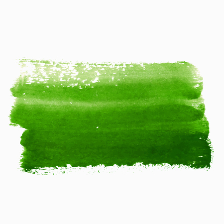 paint strokes: Green abstract paint strokes isolated on white
