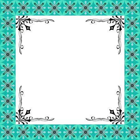 El diseño gráfico de Lujo Marco floral verde Foto de archivo - 14656683