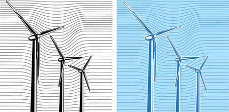composition of wind turbines Vector