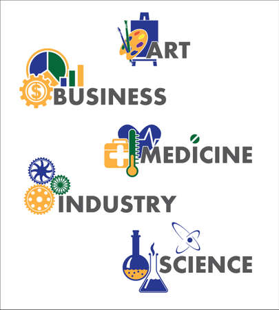 collection of infographics for business, art, medicine, industry, science Vector