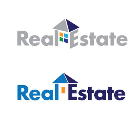 abstract logo on real estate theme. Real Estate Sign Vector
