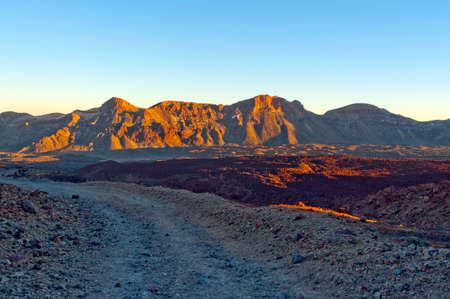 mountains in the Canary Islands. Teide volcano, rocks, rocky, desolate landscapes photo