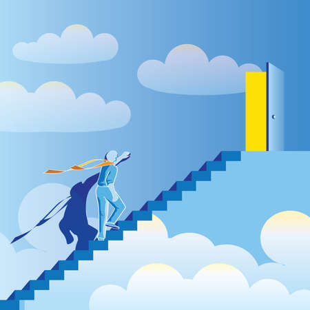 abstract, stylized vector composition stairway to heaven. At the End of the World. Vector