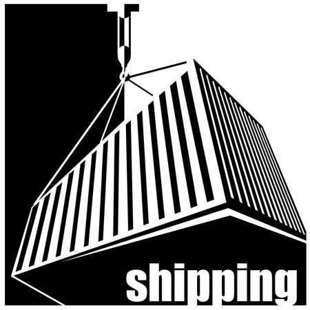 dockyard: stylized illustration on logistics and freight transport.