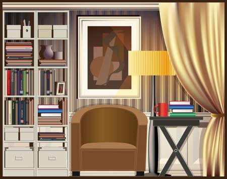 comfort classroom: illustration on the theme of housing