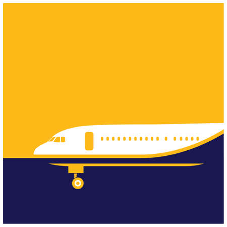 stylized illustration on the theme of air transport. airliner.