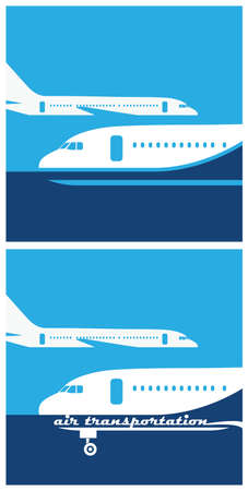 air traffic: stylized illustration on the theme of air traffic, flights, aviation Illustration