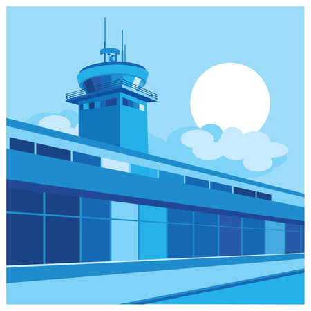 air traffic: stylized illustration on the theme of the airport, air traffic, etc.