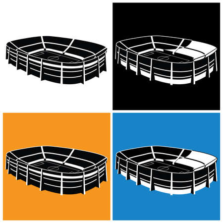Stylized vector illustration on the theme of sports, sports competitions, team and other events in several variants