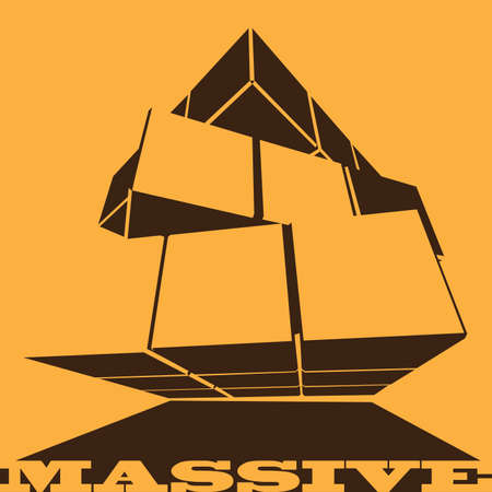 massive: abstract massive cube transformer. can be used as a mark in the icon, sign, symbol, banner, background, etc.