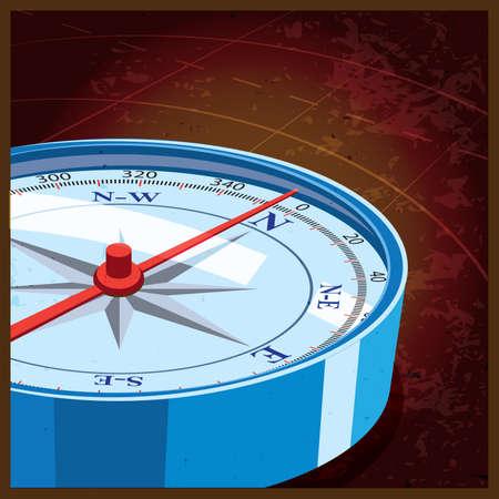 rosa dei venti: Illustrazione vettoriale stilizzato sul tema della cartografia, viaggio, avventura, e cos� via. bussola a nord Vettoriali