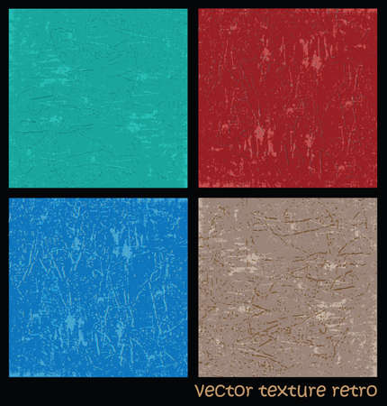 textures: Several variants of vector retro textures. plaster texture