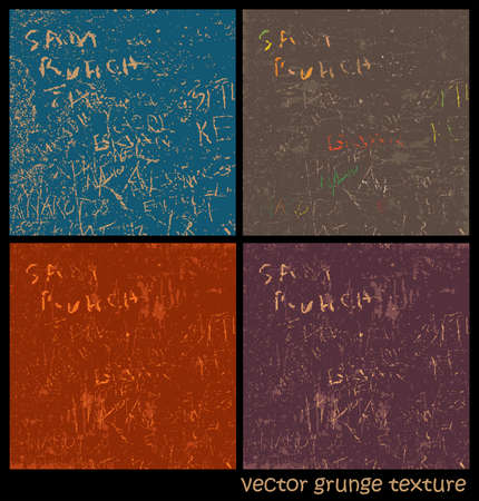 variants: Several variants of vector textures grunge style