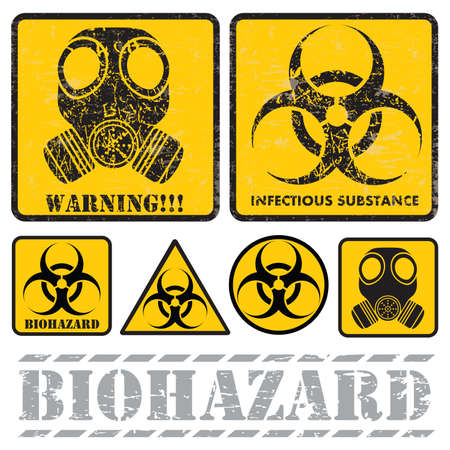 bacteriological: set of signs warning of biological hazards