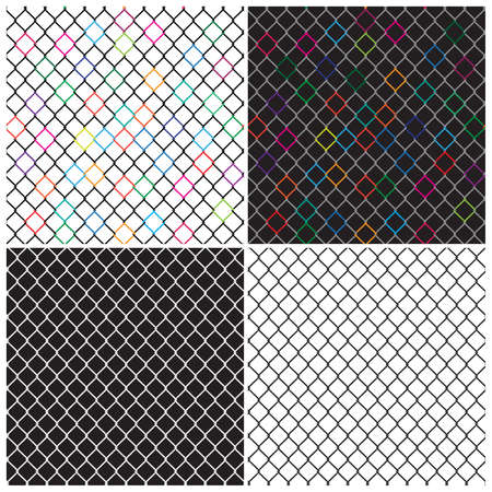chainlink: mesh netting in different interpretations. seamless in all directions if needed