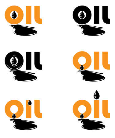 oil drops: Stylized symbol or logo of the oil