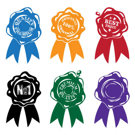waxseal: Collection of stylized vector wax seals