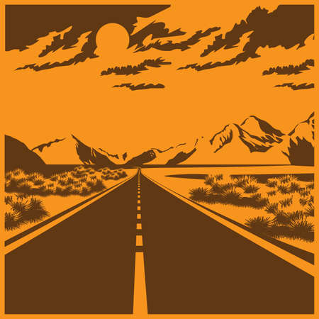 openness: Stylized illustration of a route through the mountain valley
