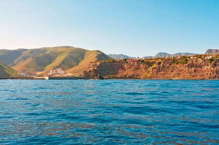 shores: Rocky shores of the island of Gomera Stock Photo