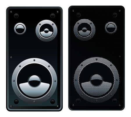Vector illustration of modern speaker system