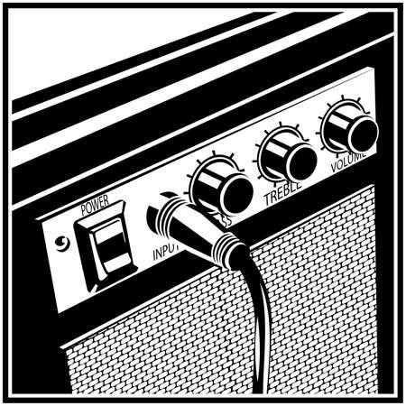 Stilisierte Vektor-Illustration eines Gitarrenverstärkers Vektorgrafik