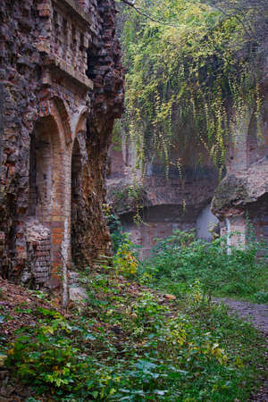 seconda guerra mondiale: Ruins of abandoned fortifications of the times of the First World War