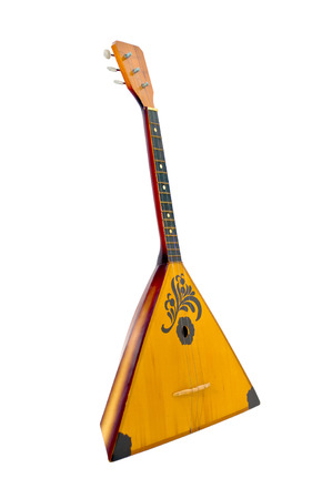 balalaika: photo look 3 4  musical instrument  white background close-up nobody russian Stock Photo