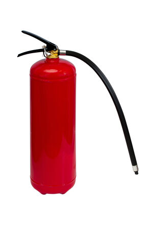fire extinguishers: photo of fire extinguishers red color on a white background