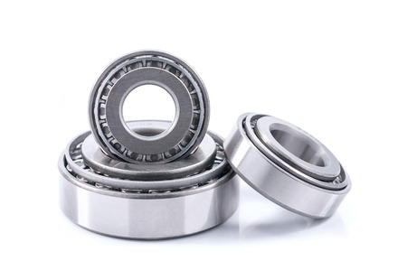 photo of conic bearings on a white background
