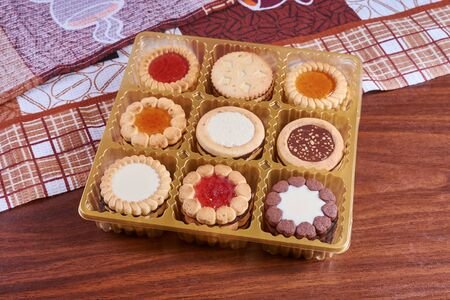 spicecake: collection of cookies with a different stuffing and various form