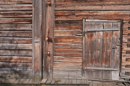 old wooden wall with a door a wall, on a door the lock