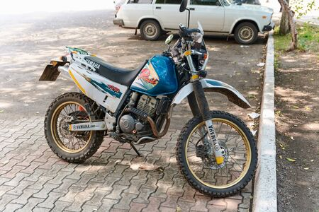 Krasnoyarsk, Russia - July 26, 2018: the motorcycle of Yamaha TT-R 250 on the parking.